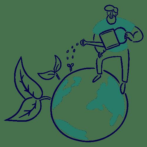 Arroser la planète terre