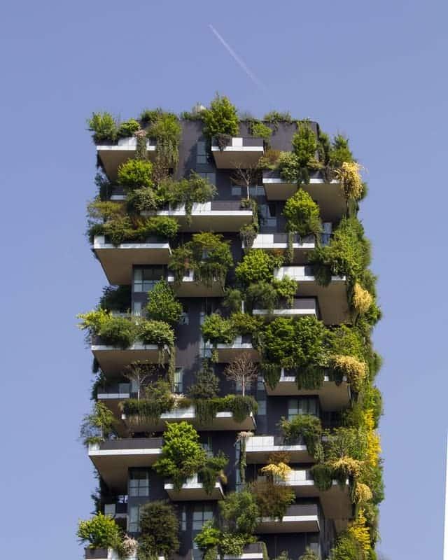 Immeuble rempli de verdure, exemple de construction durable ?