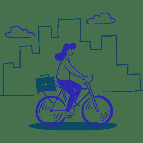 Déplacements domicile-travail en vélo