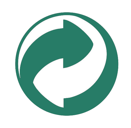 Recyclage plastique : logo point vert